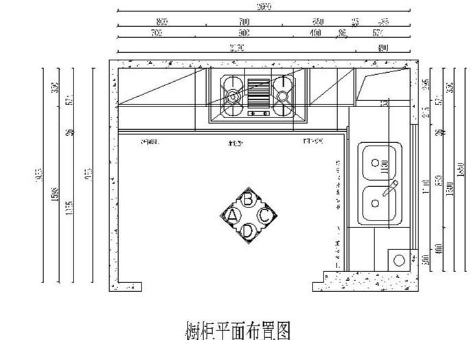 现代风格的定制橱柜设计施工图