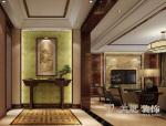瀚宇天悦166平典雅中式三居室,展现浓郁东方元素