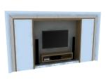 家庭装饰墙3D模型下载