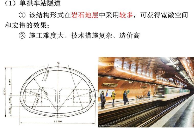 地铁与轻轨工程第三章建筑与结构设计培训PPT(地铁车站结构设计、区间隧道结构设计)