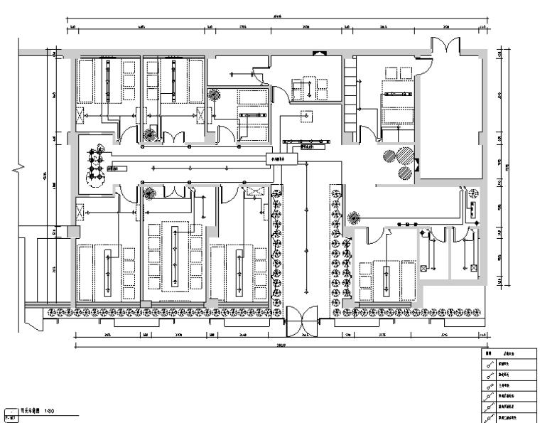 [新疆]竹林自然风茶室空间设计施工图(附效果图)_2