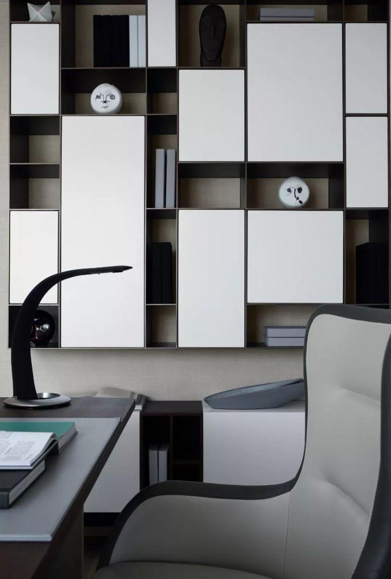 看看这两套样板房设计,用黑白灰勾勒出的简约风_55