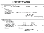 【B类表格】项目经理变更审批表