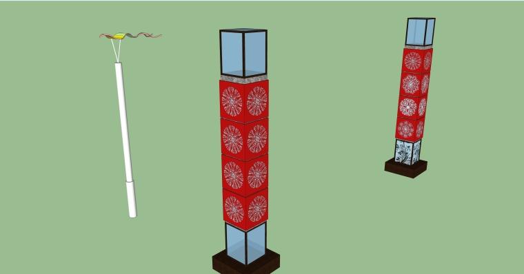 庭院景观各式灯SU模型设计-【景观大数据】 (5)
