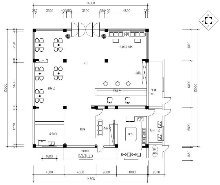 某四层酒店内部装饰全套施工图及效果图