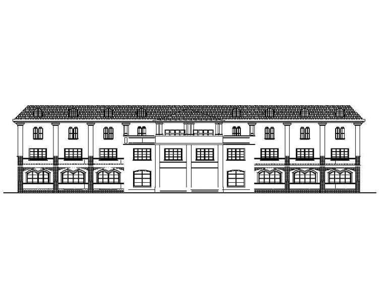 欧式风格别墅建筑方案设计(包含效果图)