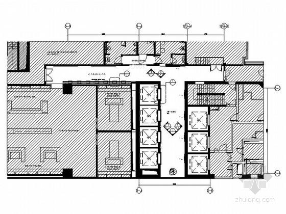 [上海]豪华现代酒店卫生间电梯厅走道室内装修施工图(含效果)