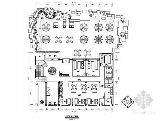 [合肥]悠闲有情调茶楼设计施工图(含系统图)
