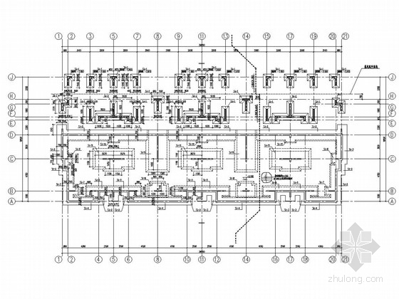 [沈阳]160厚剪力墙结构联排别墅结构图(坡屋面)