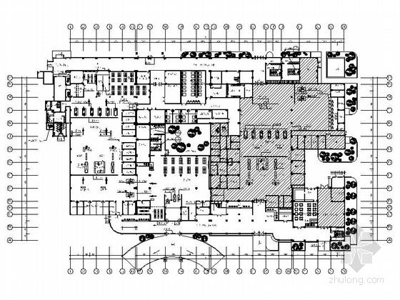 [福州]沿海城市现代风格客运站室内装修施工图(含效果)