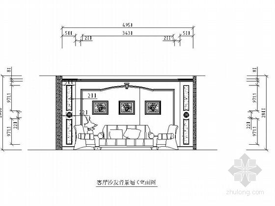 [重庆]古典风格三层别墅室内装修图(含效果) 立面
