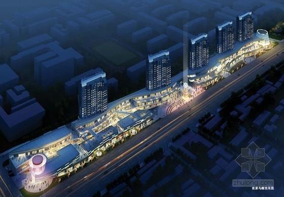 [河北]流线型多层特色商业综合体规划及建筑设计方案文本