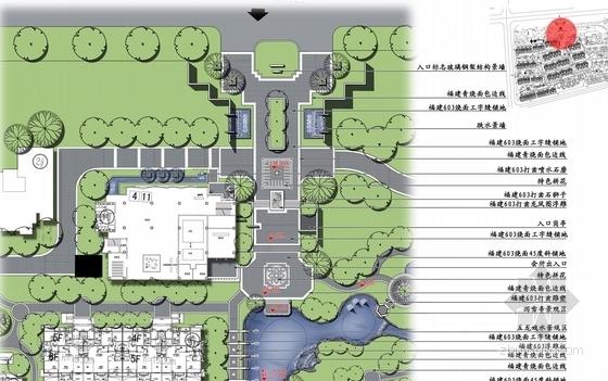 [北京]诗情画意山水住宅商业深化设计方案(图纸精美)-入口平面图