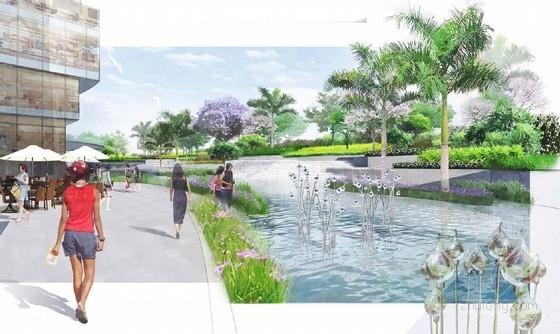 [云南]幻彩云图生态化主题购物商城景观设计方案(设计效果精美)-景观效果图