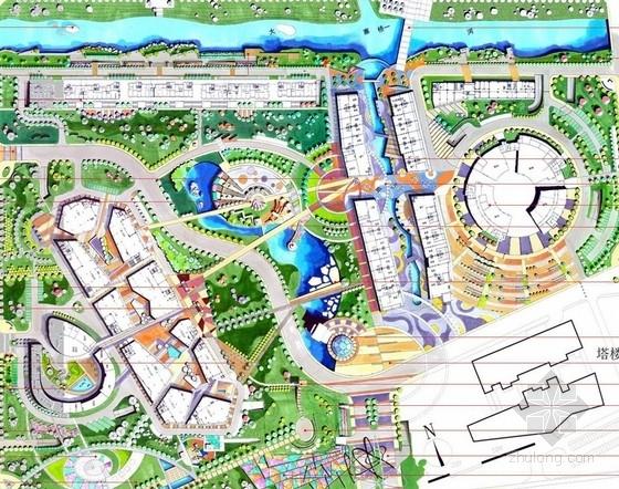 [江苏]城市滨水休闲购物商业区公园景观规划设计方案