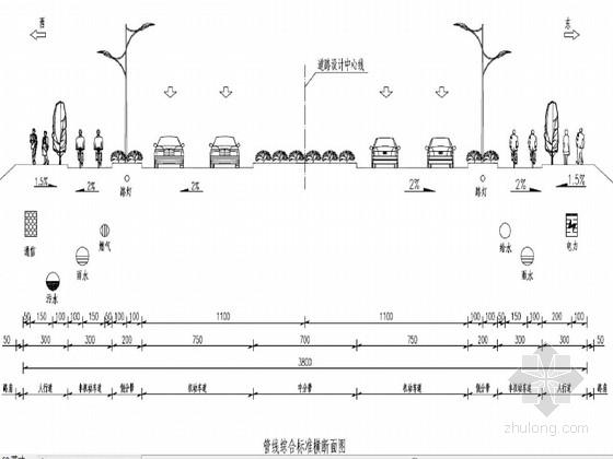 [江苏]38m宽城市次干道排水设计图43页(雨污水分流)