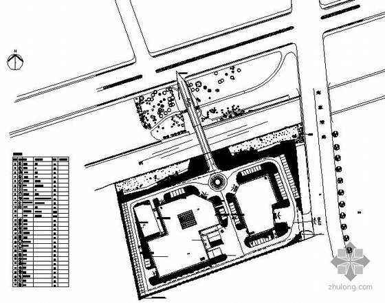 浙江杭州某公司新建办公楼环境绿化设计平面图