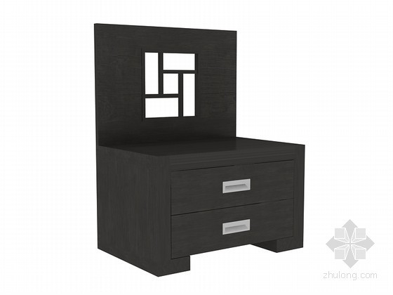 中式储物柜3D模型下载