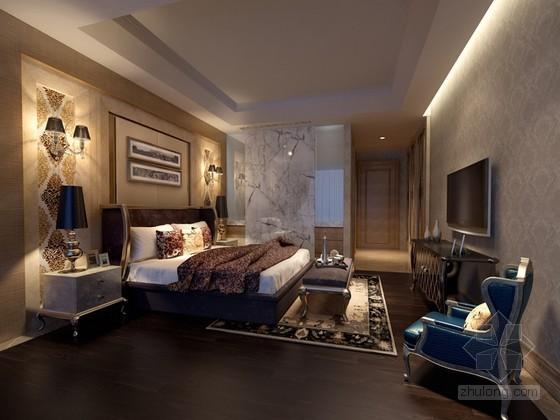 欧式新时尚卧室3D模型下载