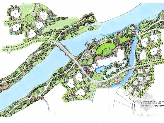 [成都]北美风格滨水高档别墅区景观规划概念设计方案