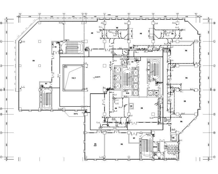[甘肃]高层建筑给排水施工图(含给排水平面及系统,消防平面及系统,水泵房及卫生间大样等)_3