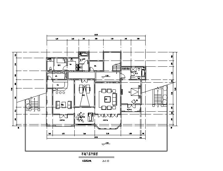 两层704平方米独栋别墅含地下室CAD图纸及SU模型