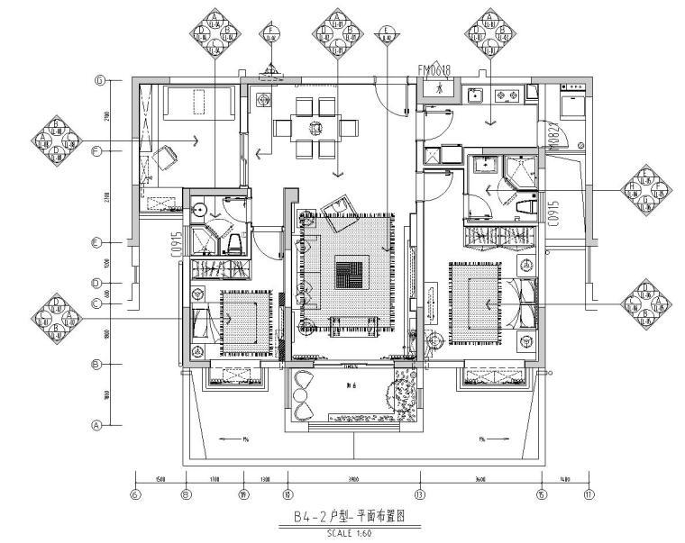 [广东]华强城样板房设计全套图纸(包含+中式、欧式、东南亚风格)