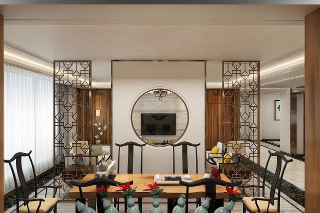 客厅 (4)-新中式风格第6张图片