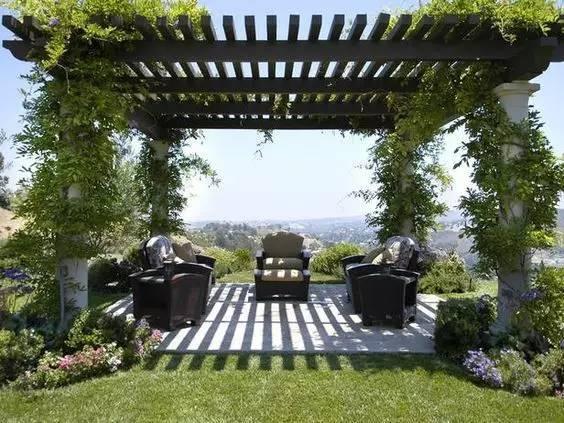 你的庄园里有这样景观花架吗?这可是标配!