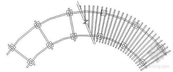 特色弧形花架施工图