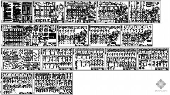 某六层底框商住楼结构图