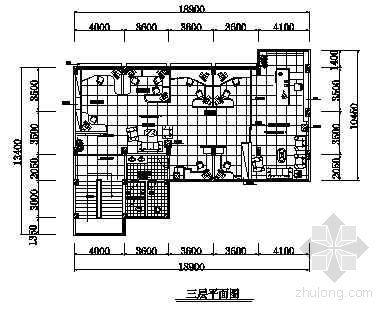 某办公楼平面布置图-3
