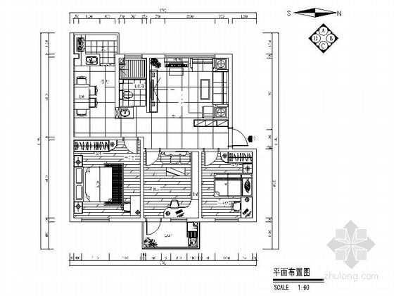 [广州]某简约现代三室两厅一卫装修图