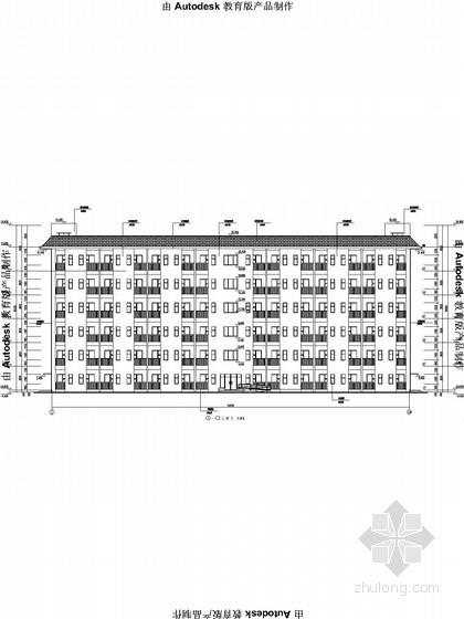 [重庆]6层中学学生宿舍楼全套施工图(含建、水、电、结)