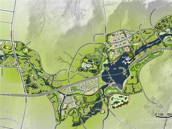 [山东]生态城市滨水区域景观规划设计方案