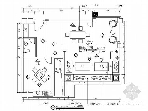 [安徽]华丽梦幻夜总会KTV包厢室内装修施工图(含效果)