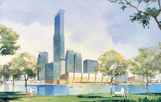 [上海]国际都市活动新城区景观规划设计方案-景观效果图