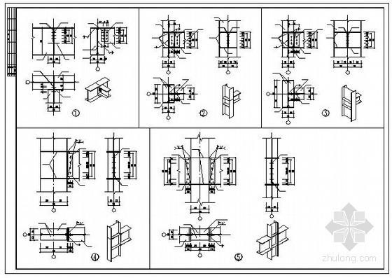 某门式钢架厂房钢柱与钢梁节点构造详图
