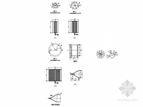 单层网壳嵌入式毂节点结构图