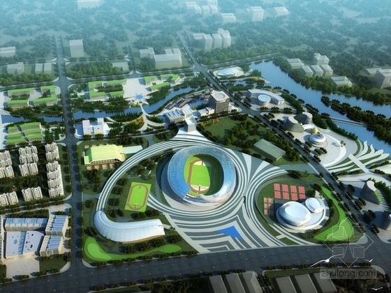 [广东]大型现代风格奥林匹克体育中心设计方案文本