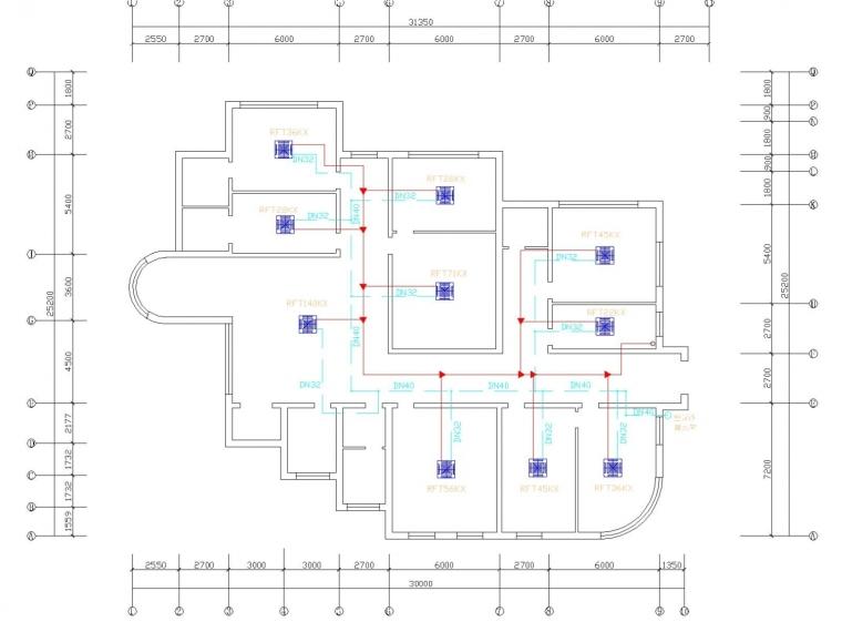 vrv中央空调设计案例资料下载-[山东]多层托儿所中央空调系统改造设计施工图