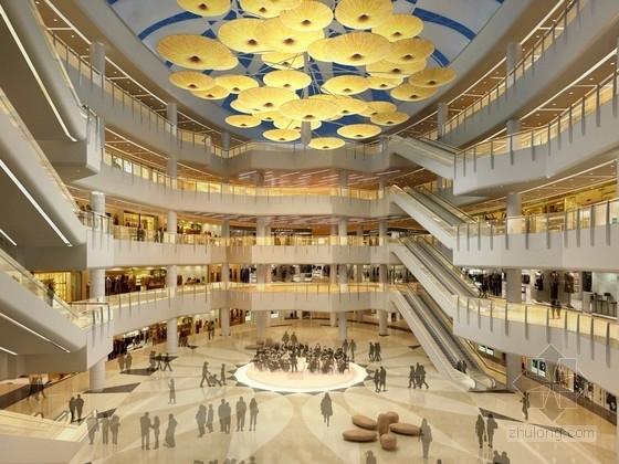 [天津]现代高档国际文化广场购物中心室内设计方案