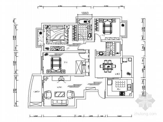[上海]环境优雅现代风格三居室装修图(含效果图及实景图)