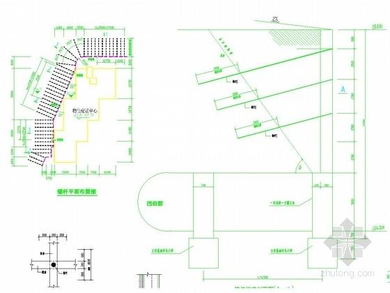 锚杆挡土墙边坡支护施工图(含计算书)