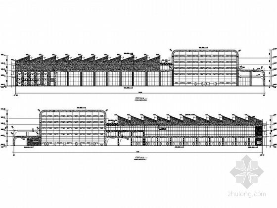 [江苏]汽车客运站及配套公交枢纽站主站房结构施工图(含建筑图)
