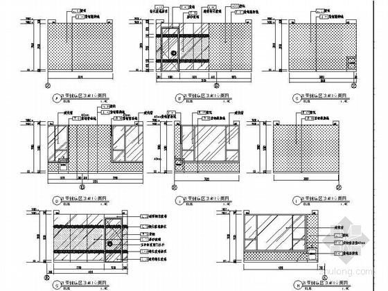 [北京]原创综合医药研究院典雅中式医院装修施工图(含效果)亚健康室立面图