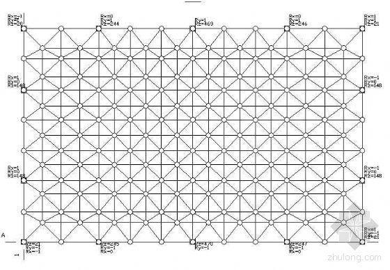 一个玻璃天棚的网架结构图