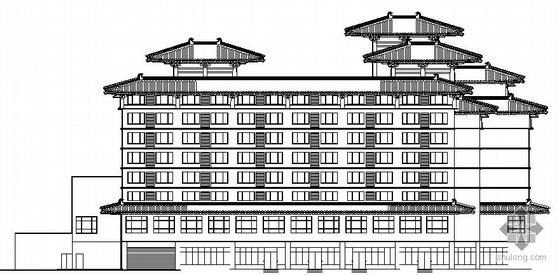 [西安毓兴]某仿古高档八层公寓建筑施工图