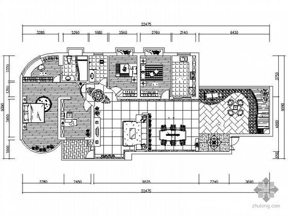 [湖南]三室雅居方案设计图