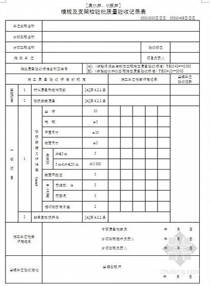 某铁路给排水工程质量验收记录表